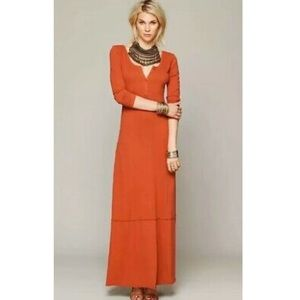 Free People Beach Miles of Henley dress - orange